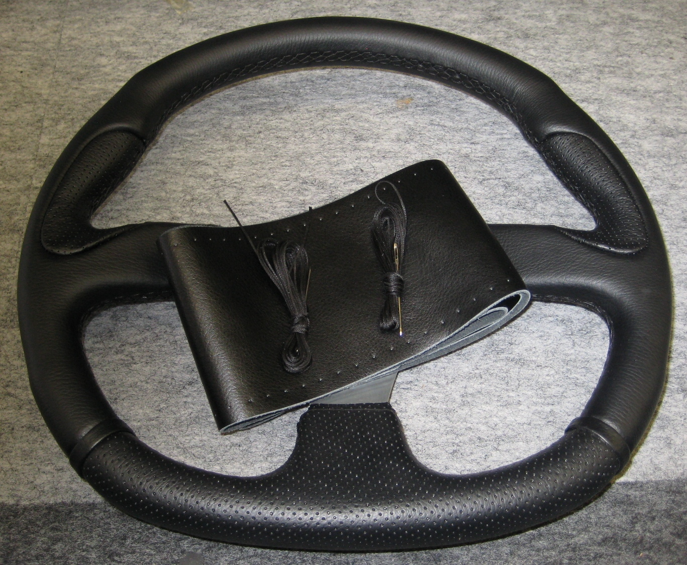 Leather Steering Wheel Cover Lace On Woottons Auto Accessories