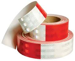 "Reflective Tape - Red/White - 2"" Wide"