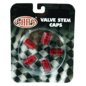 Red Valve Caps set of 4