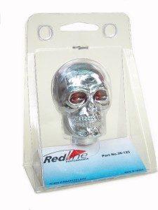 Skull Gear Knob Chrome