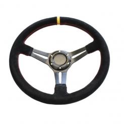 Deep Dish Steering Wheel Suede - 350mm