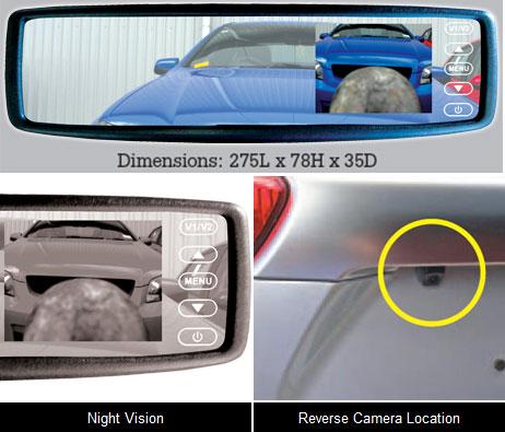 Reversing Camera Mirror Mount