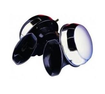 Turbine Twin Horns Chrome Pair 12v